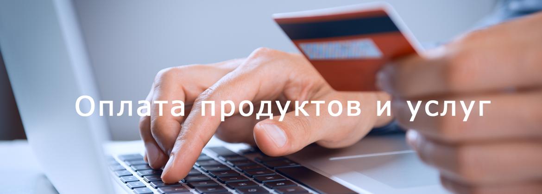 Оплата продуктов и услуг
